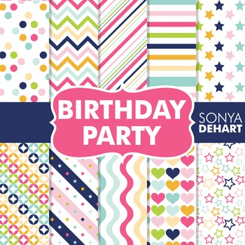 Digital Papers -  Birthday Party