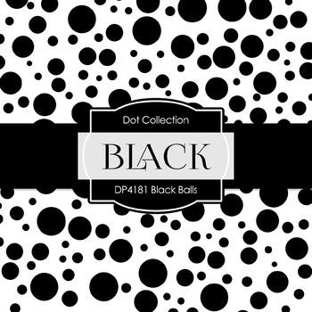 Digital Papers - Black Balls (DP4181)