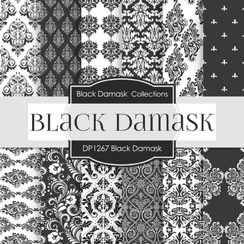 Digital Papers - Black Damask (DP1267)