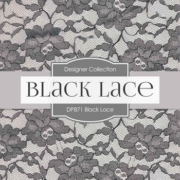 Digital Papers - Black Lace (DP871)