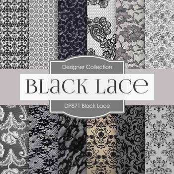 Digital Papers - Black Lace (DP871)