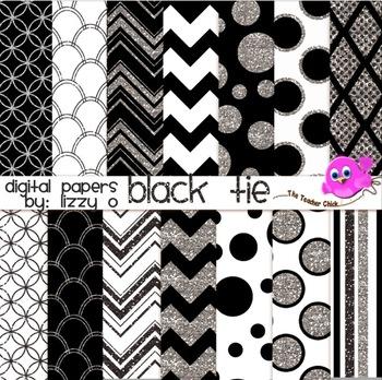 Digital Papers - Black Tie