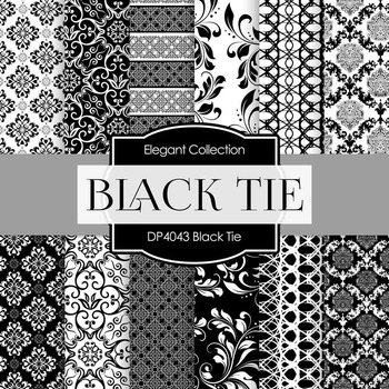Digital Papers - Black Tie (DP4043)