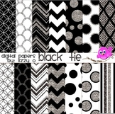 Digital Papers - Black Tie