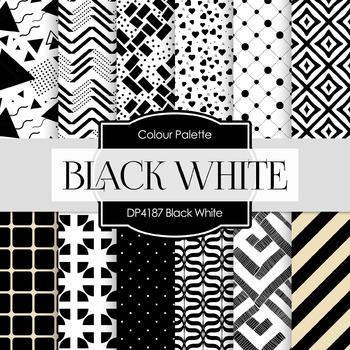 Digital Papers - Black White (DP4187)