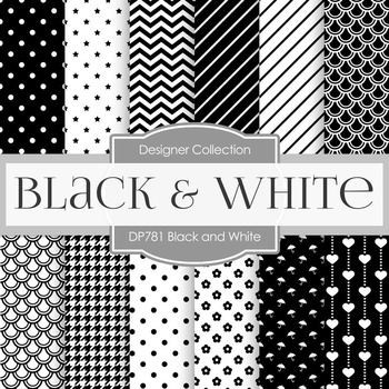 Digital Papers - Black and White (DP781)