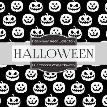 Digital Papers - Black and White Halloween (DP782)