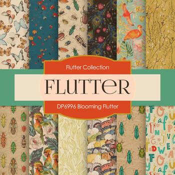 Digital Papers - Blooming Flutter (DP6996)