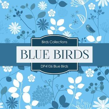 Digital Papers - Blue Birds (DP4106)