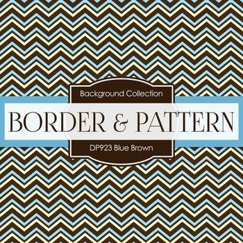Digital Papers - Blue Brown (DP923)
