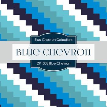 Digital Papers - Blue Chevron (DP1303)