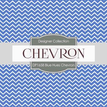 Digital Papers -  Blue Chevron (DP1658)