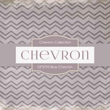 Digital Papers - Blue Chevron (DP3795)