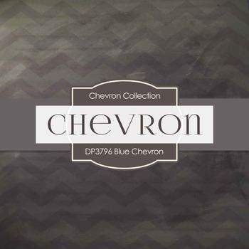 Digital Papers - Blue Chevron (DP3796)