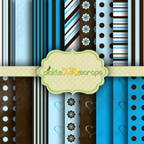 Digital Papers Blue Chocolate