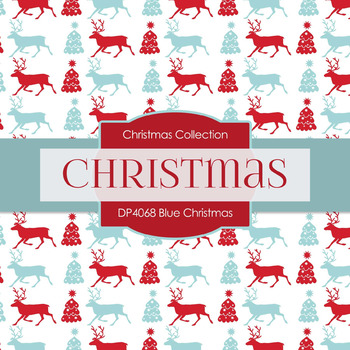 Digital Papers - Blue Christmas (DP4068)