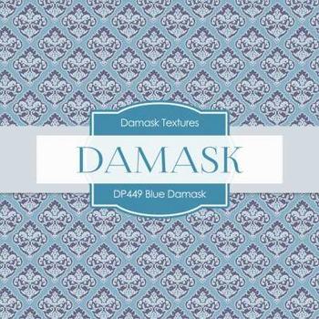Digital Papers - Blue Damask (DP449)