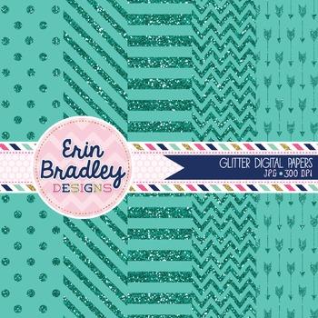 Digital Papers - Blue Glitter