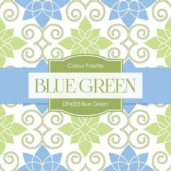 Digital Papers - Blue Green (DP4205)