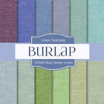 Digital Papers - Blue Green Linen (DP069)