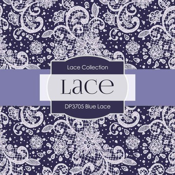 Digital Papers - Blue Lace (DP3705)