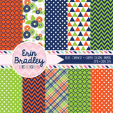 Digital Papers - Blue Orange Green