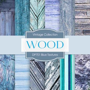Digital Papers -  Blue Textures (DP701)