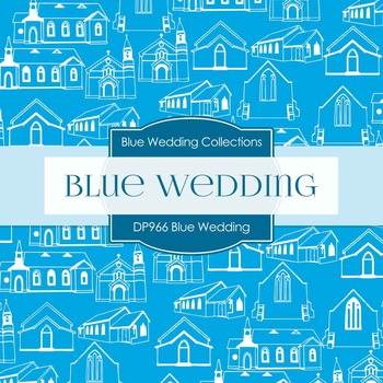 Digital Papers - Blue Wedding (DP966)