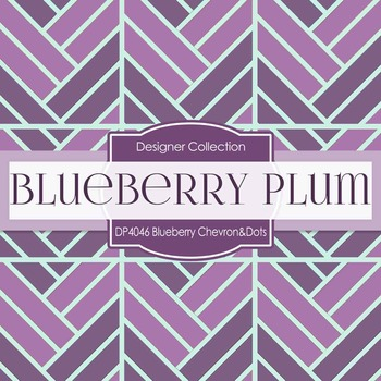 Digital Papers -  Blueberry Plum Chevron and Dots (DP4046)