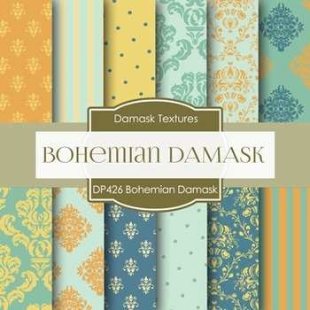 Digital Papers - Bohemian Damask (DP426)