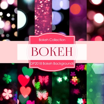 Digital Papers -  Bokeh Background (DP2018)