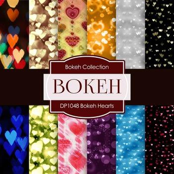Digital Papers - Bokeh Hearts (DP1048)