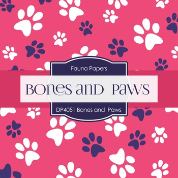 Digital Papers - Bones And Paws (DP4051)