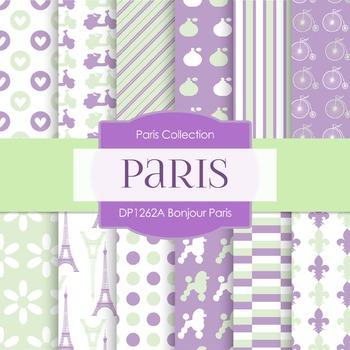 Digital Papers - Bonjour Paris (DP1262A)