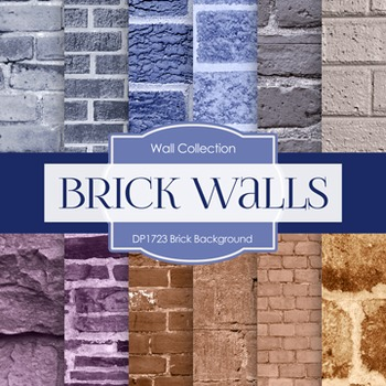 Digital Papers -  Brick Background (DP1723)