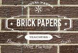 Digital Papers - Brick Patterns Bundle Deal