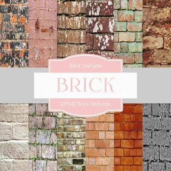 Digital Papers -  Brick Textures (DP542)