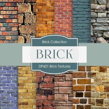 Digital Papers - Brick Textures  (DP601)