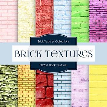 Digital Papers - Brick Textures (DP651)