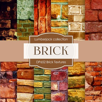 Digital Papers - Brick Textures (DP652)