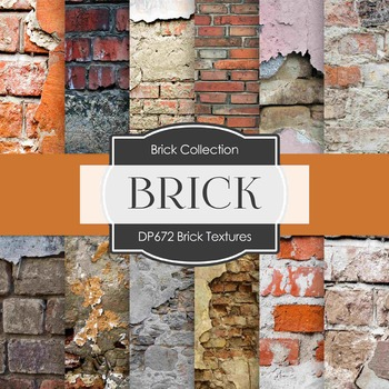 Digital Papers - Brick Textures (DP672)