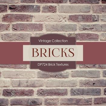 Digital Papers - Brick Textures (DP724)