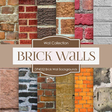 Digital Papers - Brick Wall Backgrounds (DP4052)
