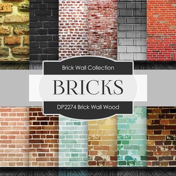 Digital Papers - Brick Wall Wood (DP2274)