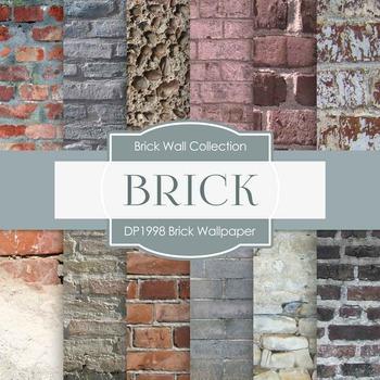 Digital Papers - Brick Wallpaper (DP1998)