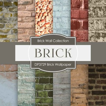 Digital Papers - Brick Wallpaper (DP3729)