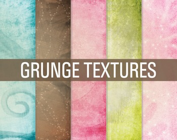 Digital Papers Bright Abstract Distressed Textures