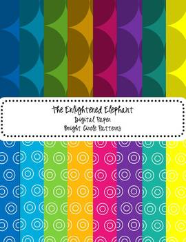 Digital Papers Bright Circle Patterns
