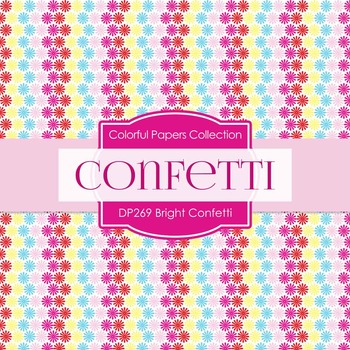 Digital Papers - Bright Confetti (DP269)