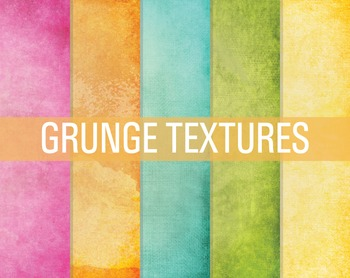 Digital Papers Bright Distressed Textures
